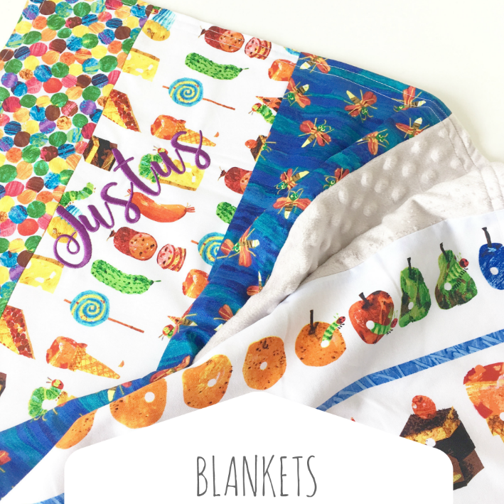 The Very Hungry Caterpillar  Baby Blankets