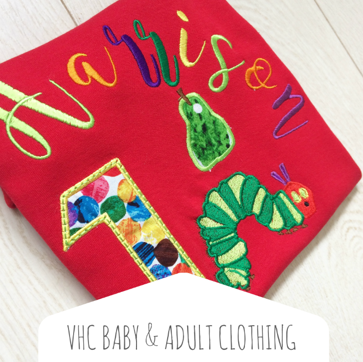 The very hungry caterpillar baby & adult clothing