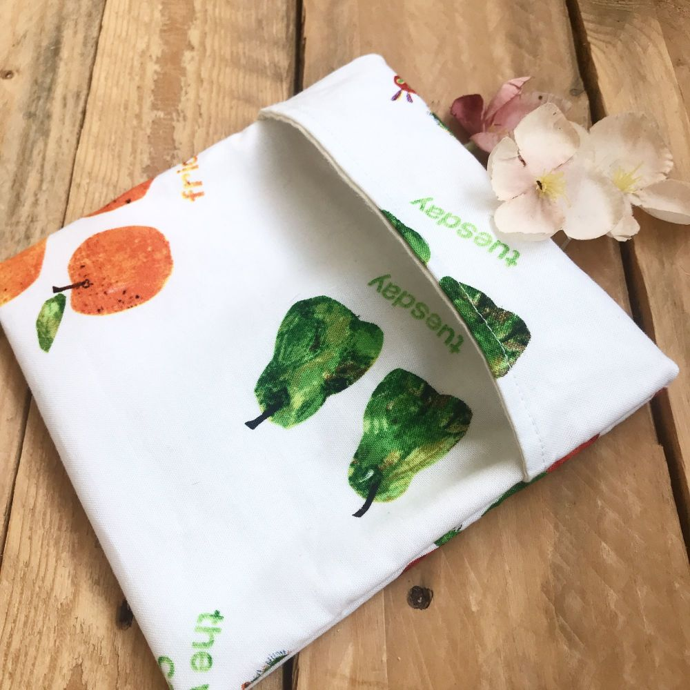 The very hungry caterpillar  sandwich snack  bag