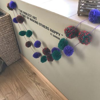 The very hungry caterpillar  pom pom garland