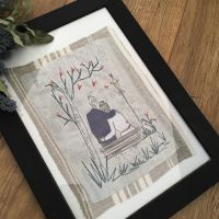 Forever young Mum and Dad ready to frame embroidered  wall art