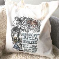 Alice in Wonderland cotton tote bag eco shopper