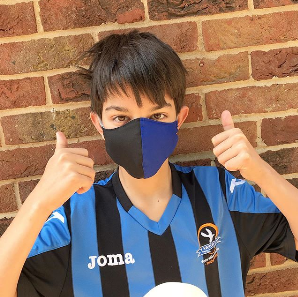 Your choice of football team colours cotton fabric face mask with filter po