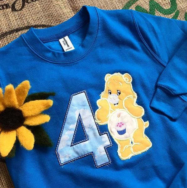 Personalised Care Bear sweatshirt
