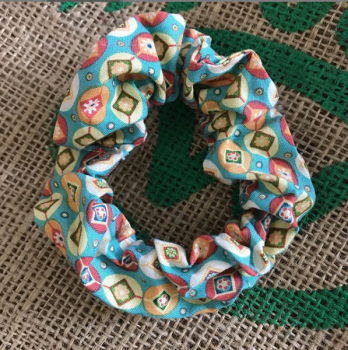 Retro diamond  scrunchie