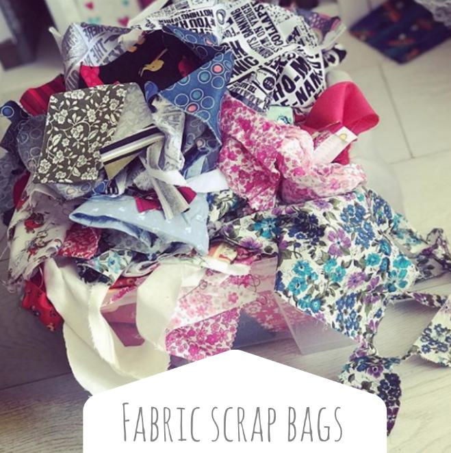 Fabric scrap bags
