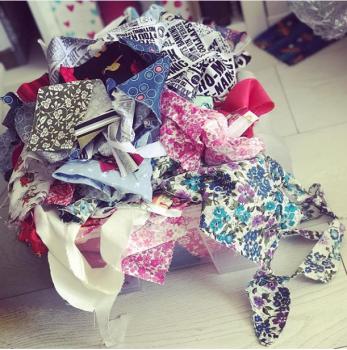 Fabric scrap bag 100g