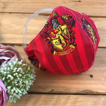 Harry Potter Gryffindor  cotton Face mask with filter pocket