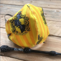 Harry Potter Hufflepuff cotton Face mask with filter pocket