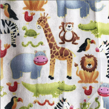 Safari print cotton fabric face mask face covering with filter pocket
