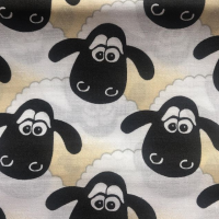 Shaun the sheep cotton face mask with filter pocket