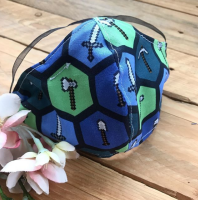 Minecraft  fabric  face mask with filter pocket