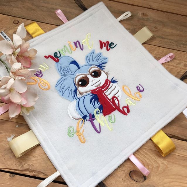 Labyrinth worm baby taggy blanket 2