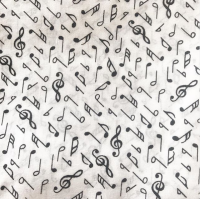 Musical notes print 100% cotton face mask with filter pocket