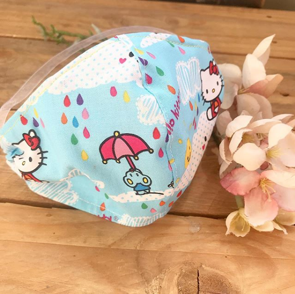 Hello Kitty 100%  cotton face mask with filter pocket