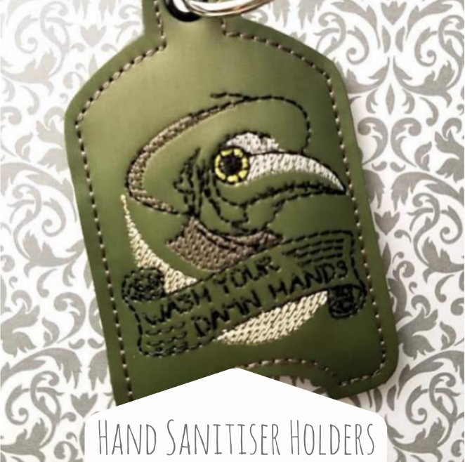 Hand sanitiser holders