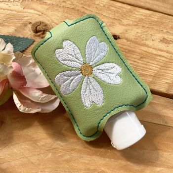 Pink daisy  hand  sanitiser holder