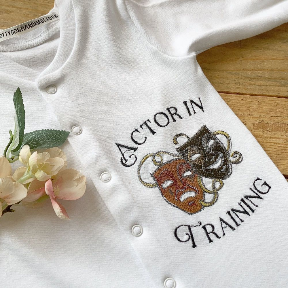 Actor In Training  babygrow sleepsuit