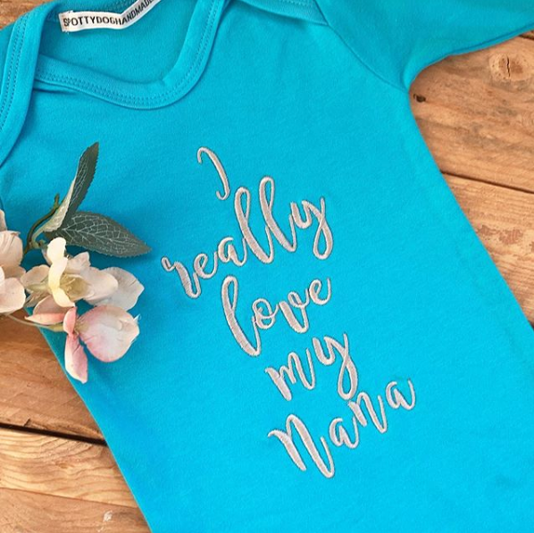 I love my Nana babygrow sleepsuit