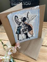 Kissing Fairies embroidered greetings card