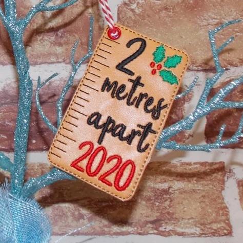 2 meters apart 2020 Christmas decoration