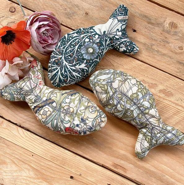 Fabric cat nip toys