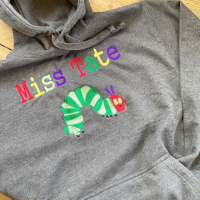 ADULT The very hungry caterpillar personalised hoodie