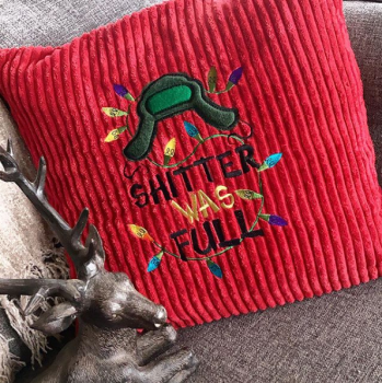 Embroidered Shitter was full christmas  cushion cover