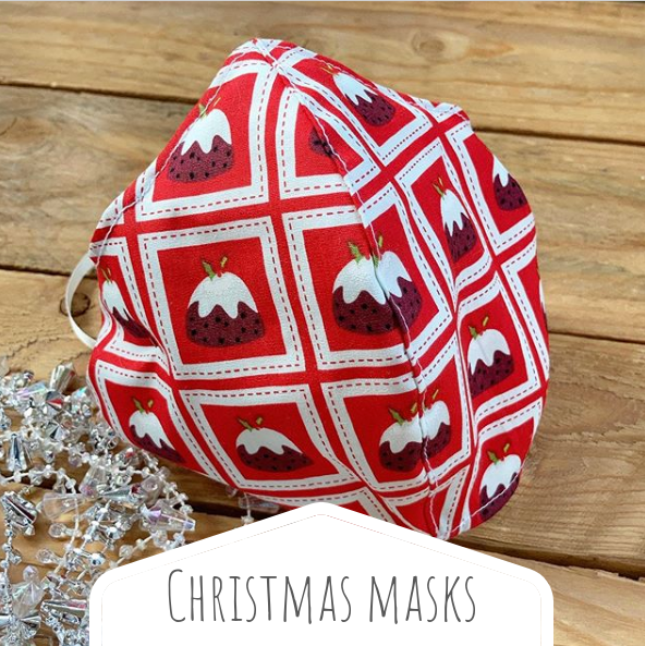 Christmas cotton face masks