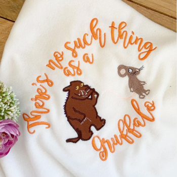 The Gruffalo  & mouse personalised cot blanket