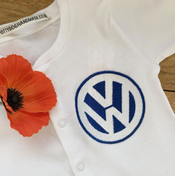 Car logo VW  baby grow sleepsuit