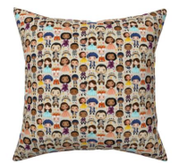 Hamilton character collage  cushion cover