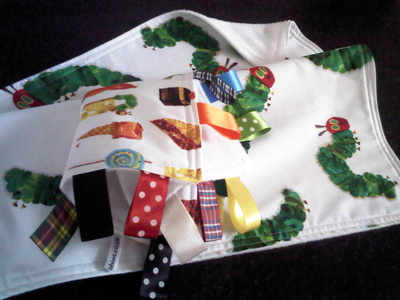 The very hungry caterpillar encore pram blanket & free taggy blanket set