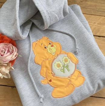 Embroidered Care Bear Hoodie