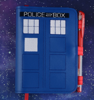 Dr Who A6 notebook cover