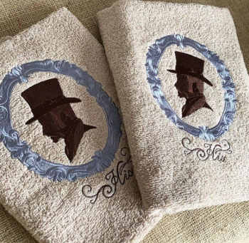 His and His wedding hand towels