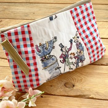Charlie and the chocolate factory  fabric zip bag clutch bag