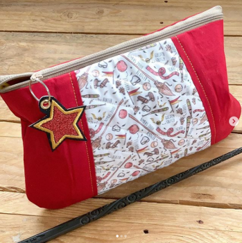 Wizarding  zip bag clutch bag