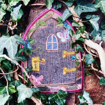Embroidered  fairy door