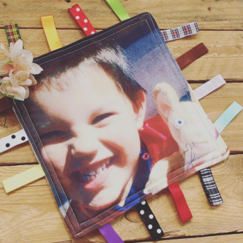 Photo printed   baby taggy blanket