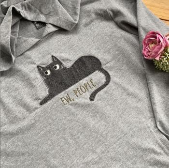 Ew People  grumpy kitty hoodie