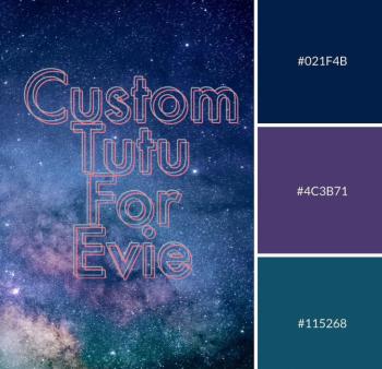 Custom Tutu order for Evie