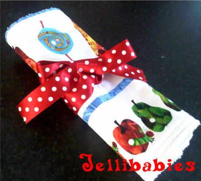 The very hungry caterpillar baby burp cloth