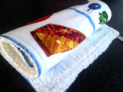 the very hungry caterpillar burp cloth 2