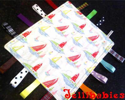Cath Kidston Mini boats fabric Taggy Blankets