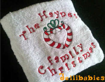 The ......Family christmas hand towel