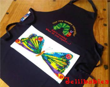 Personalised Adult The very hungry caterpillar apron