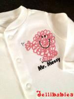 Mr Messy babygrow sleepsuit