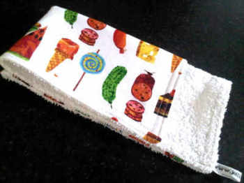 The very hungry caterpillar baby burp cloth 4