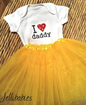 I love my daddy baby tutu and onesie vest set